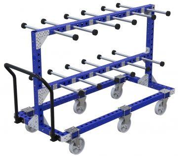 Carritos FlexQube de producción industriales para colgar