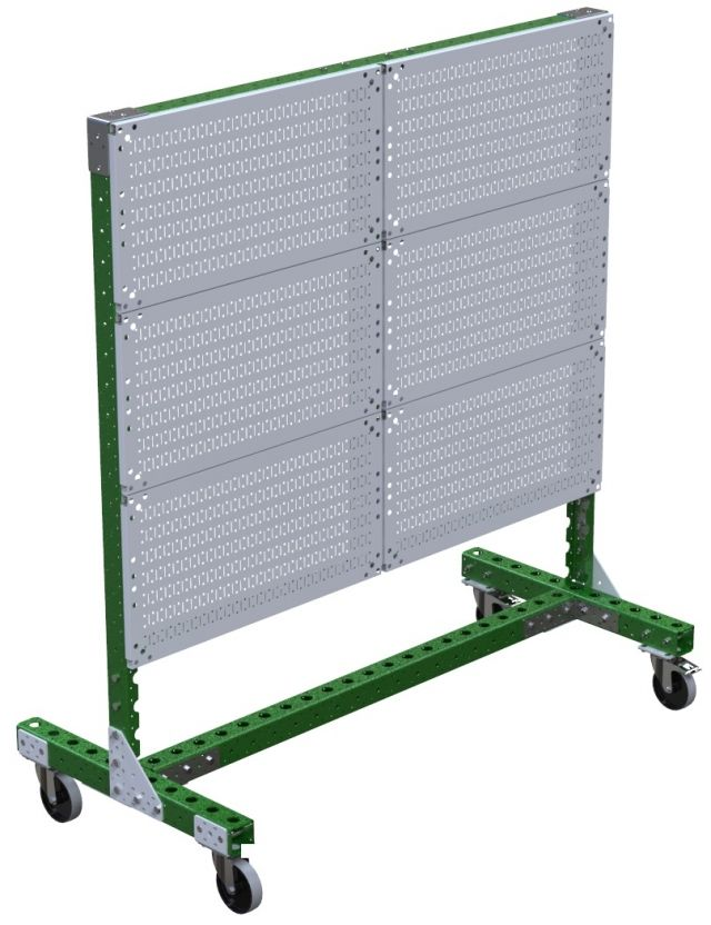 Modular & industrial material handling shadow board cart by FlexQube