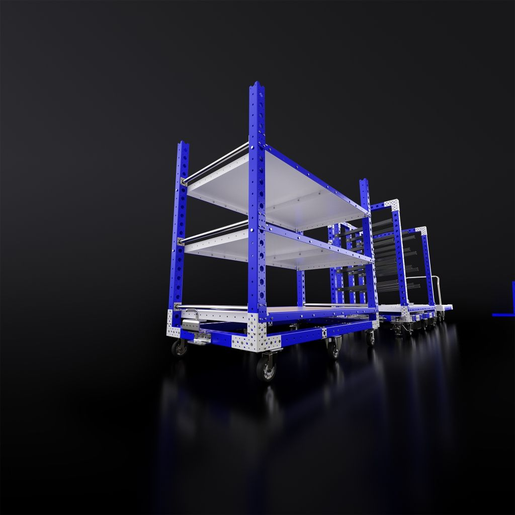 High res rendering of FlexQube carts