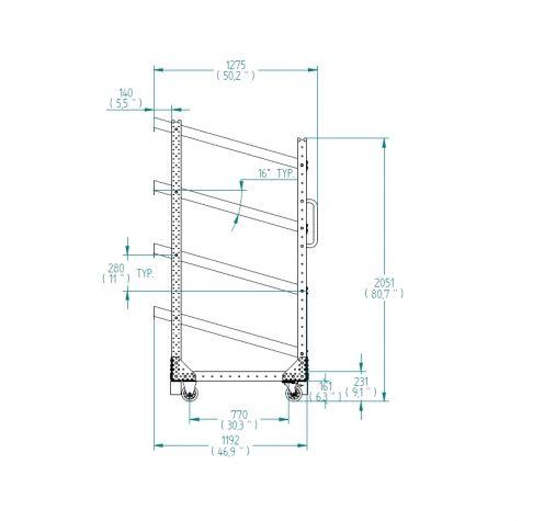 Flow shelf Cart – 1050 x 1190 mm