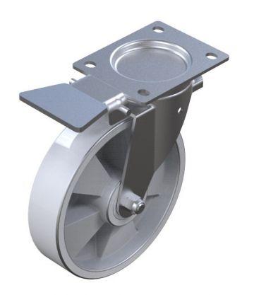 Caster Nylon Fix Brake - 200 mm