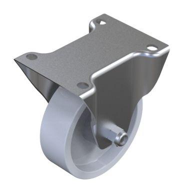 Polyamid wheel - 125 mm Fixed