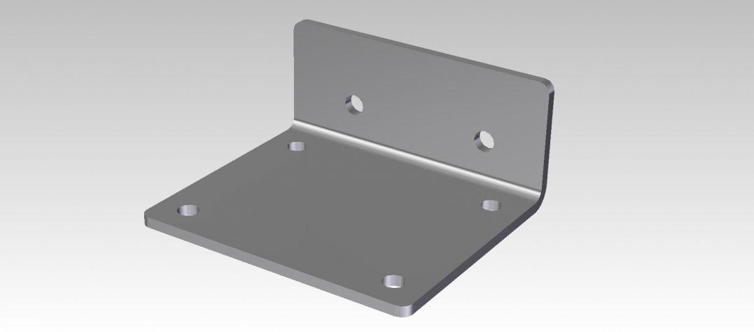 Floor brake handle - wheel plate