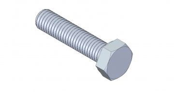 Hex Head Fully Threaded - M8 x 35 mm