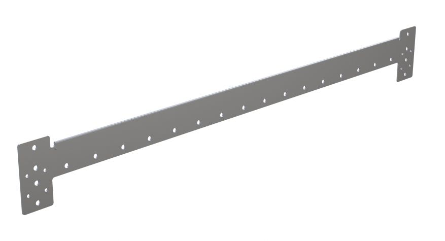 Reversible Shelf Edge Plate - 1260 mm