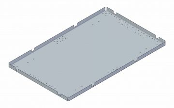 Top plate - 1270 x 780 mm