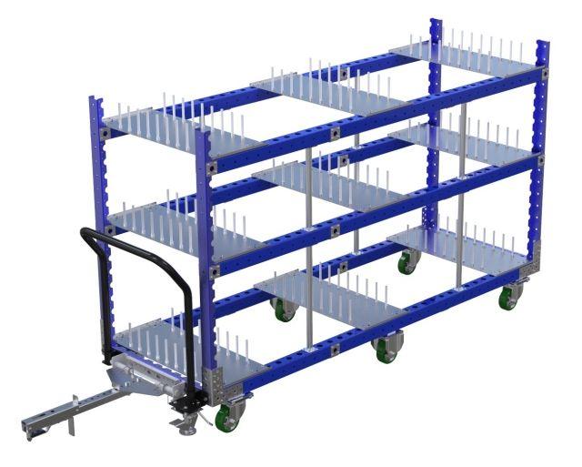 Shelf Cart w. Dividers – 840 x 2450 mm