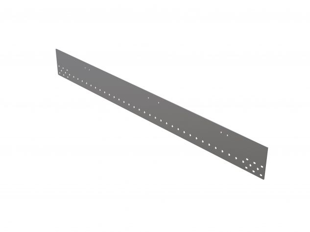 Telescopic rail plate
