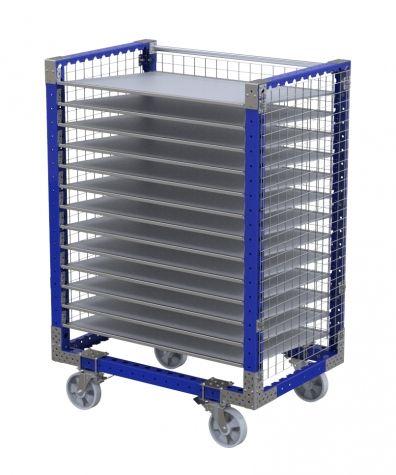 Flow Shelf Cart with fence – 1260 x 840 mm