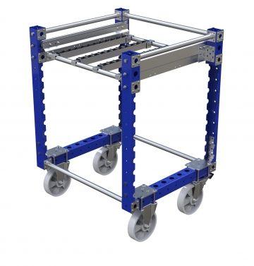 Telescopic Roller Shelf Cart – 700 x 700 mm