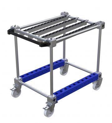 Roller trolley for totes