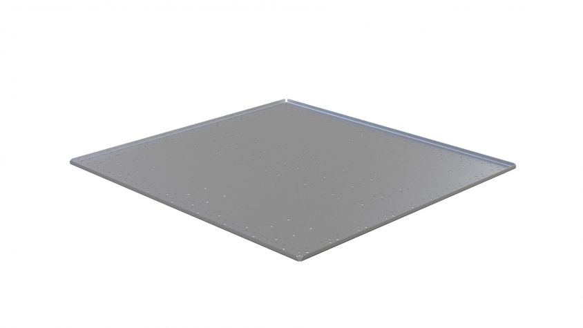 Top plate with edge - 1190 x 1260 mm