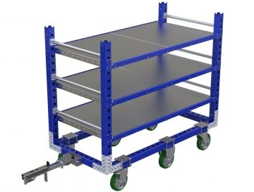 63 x 33 inch flat shelf cart