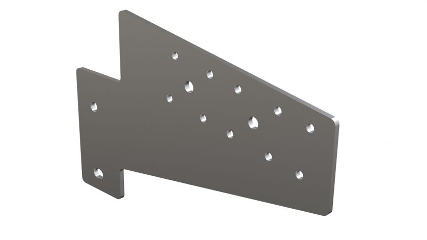 Angle support plate