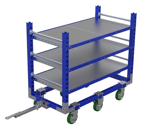 Flat Shelf Cart – 66 x 33 Inches