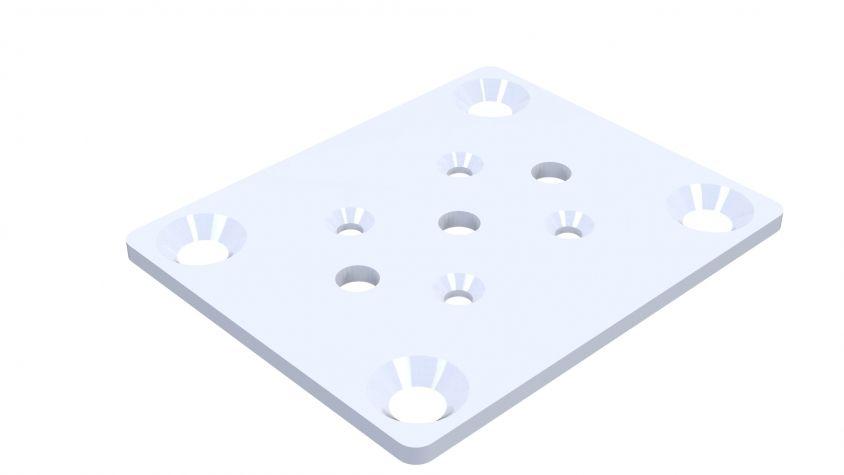 Countersunk Wheel Attachment - 105 x 77.5 mm