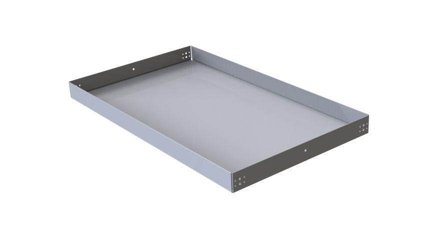 Flat shelf w. 3- edge lip - 1190 x 700 mm