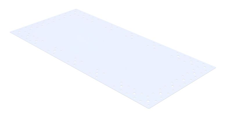 Steel lable plate - 910 x 420 mm