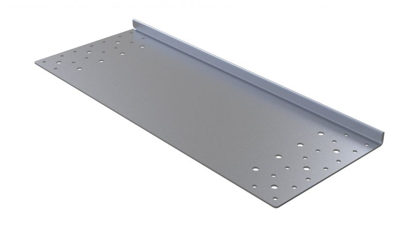 Top Plate W. Edge Bend - 630 x 246 mm
