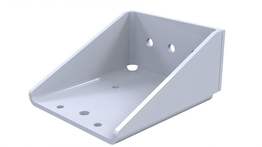 Extended caster attachment (Welded) - 80 x 60 mm