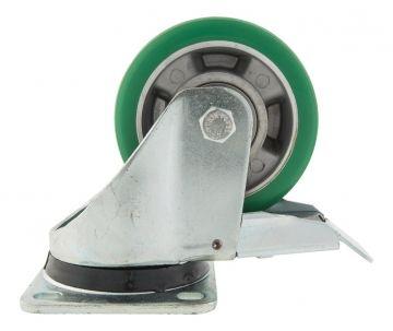 Caster Polyurethane 125 mm w. Brake