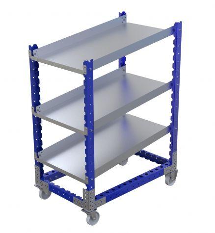 Angled Shelf Cart 44 x 24 inch
