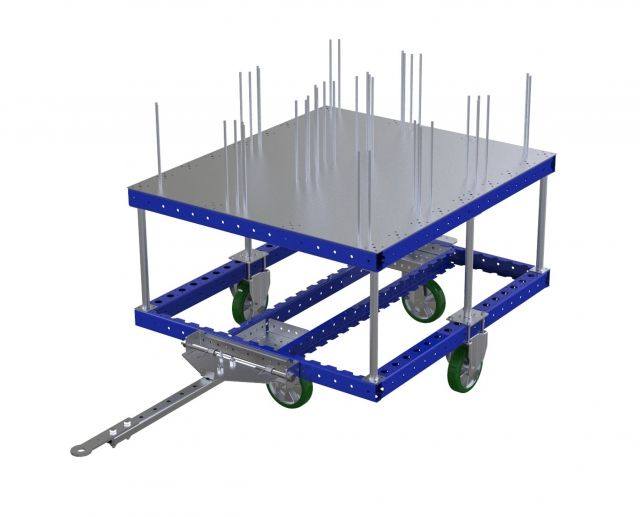 Tugger cart (1120 x 1260 mm) with flat deck