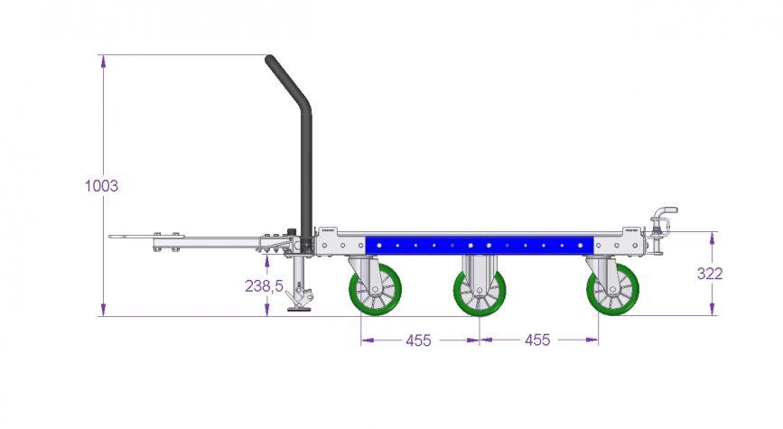 Tugger Cart 50 x 50 inch