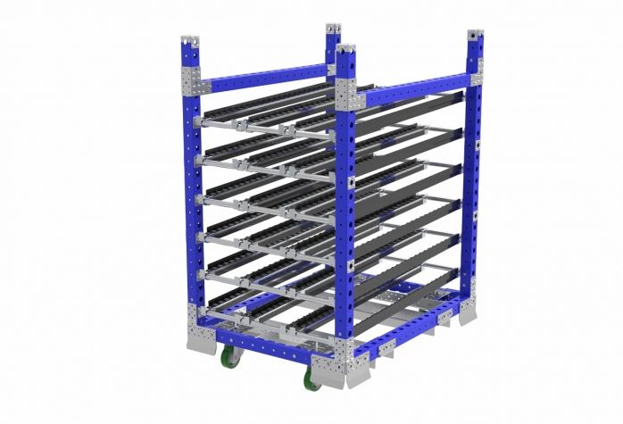 Stackable Cart with Roller Tracks
