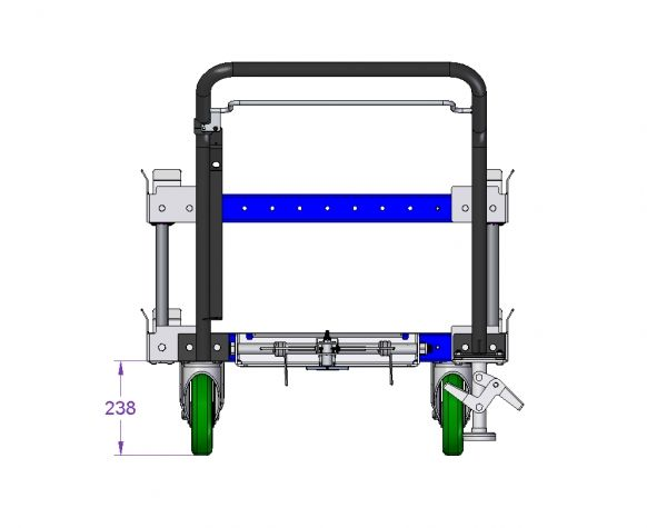 Pallet Cart with Sub Frame 630 x 910 mm
