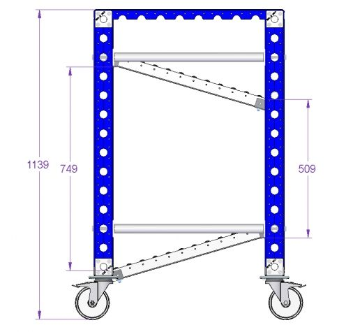 Flow Rack Trolley 700 x 980 mm