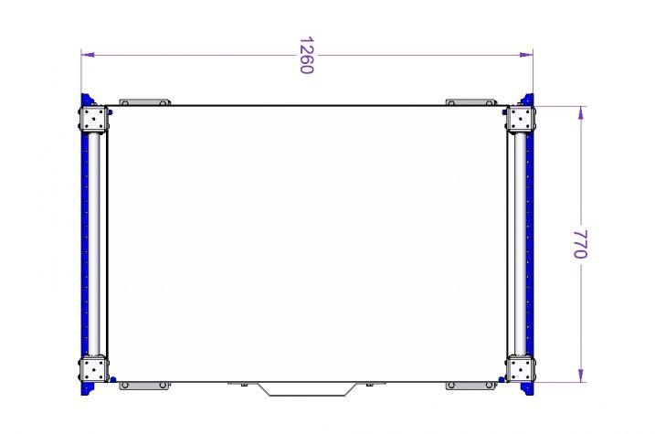 Flow Shelf Cart for E-frame 1260 x 840 mm