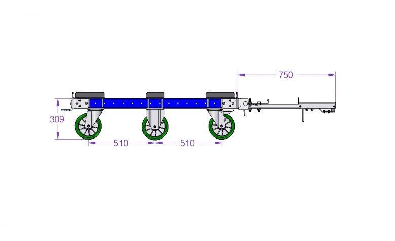 Tugger Train Pallet Cart 1260 x 1050 mm