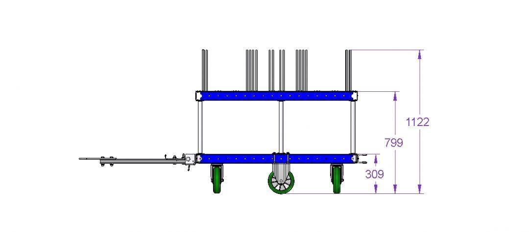 Tugger cart - 1120 x 1260 mm