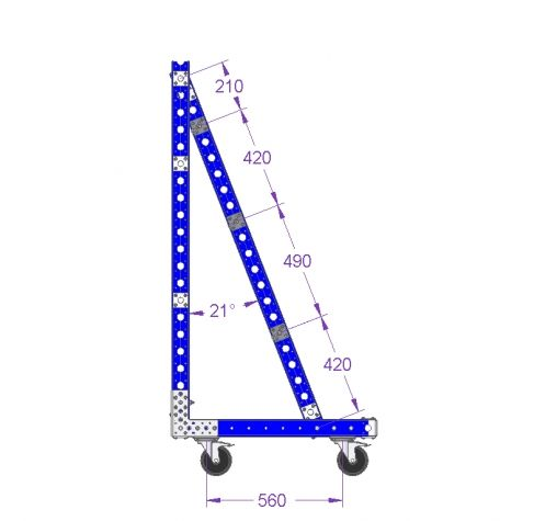 Hanging Cart For Reels - 1190 x 840 mm