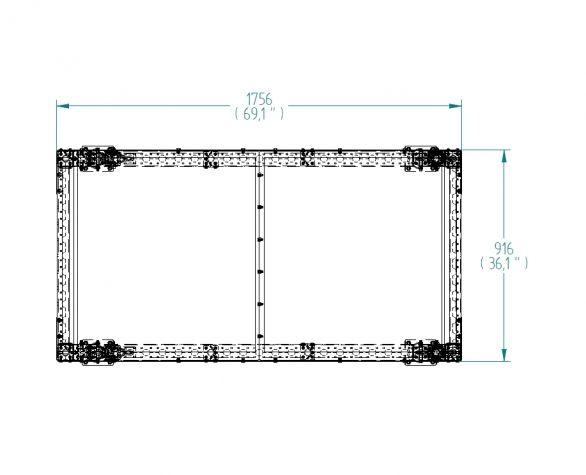 Flat Shelf cart 1750 x 910 mm