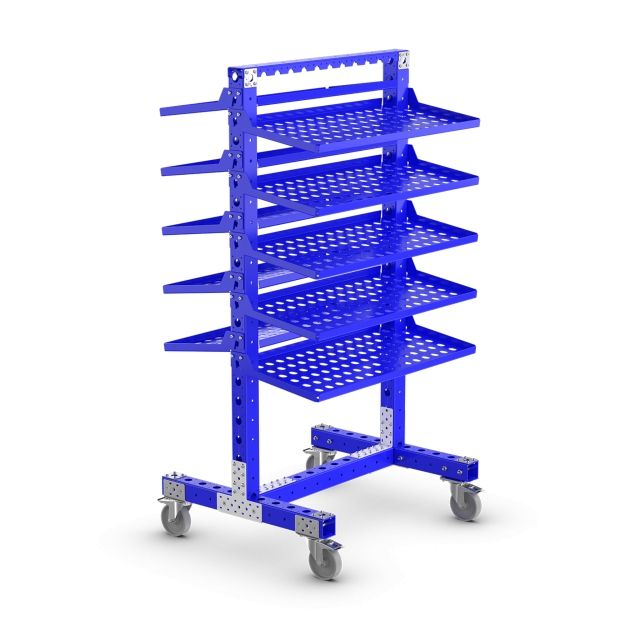 5 Smaller FlexQube Carts For Along the Assembly Line