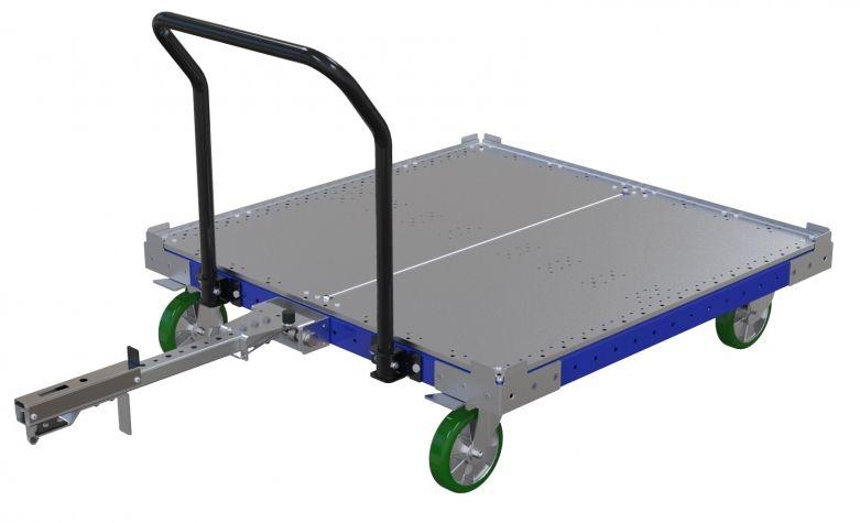 Flat Deck Tugger Cart 50 x 50 inch