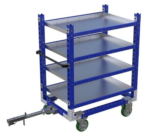 Shelf Cart 1260 x 840 mm for Plastic Containers