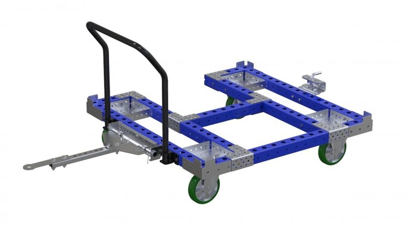 Pallet Cart with Picking Area for Operator Access - 1260 x 1260 mm