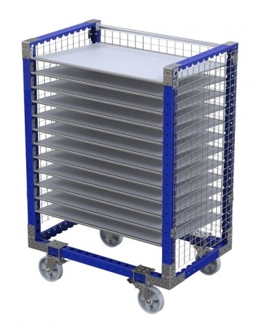 Flow Shelf Cart with fence 1260 x 840 mm