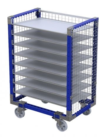 Flow Shelf Cart with fence 1260 x 840 mm
