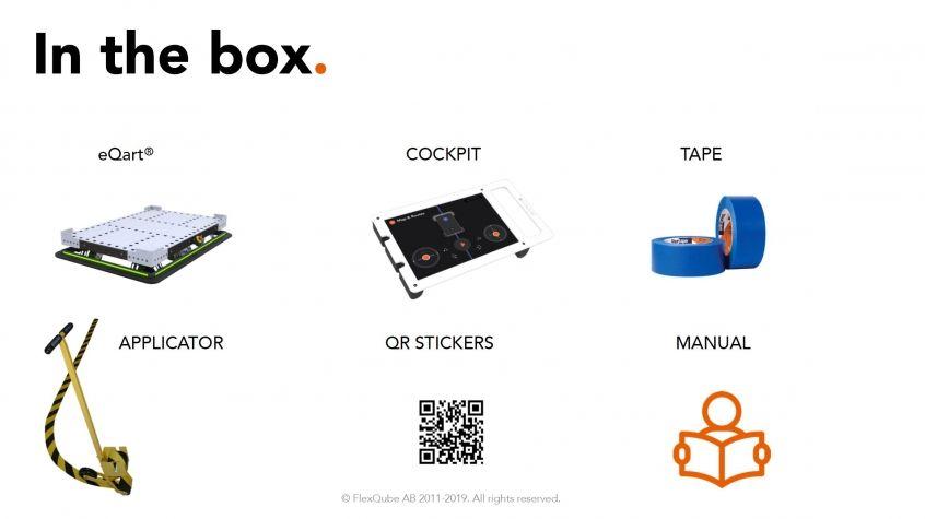 Dentro de la caja eQart FlexQube