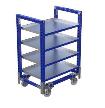 Stackable Flat Shelf Cart - 1260 x 840 mm