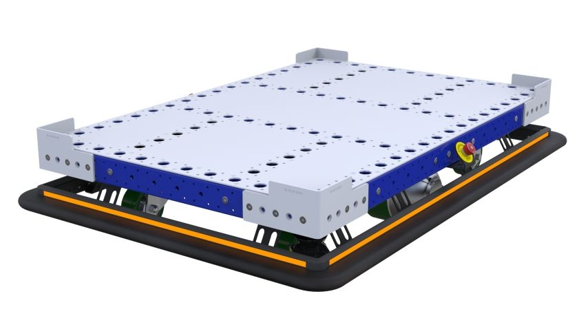 eQart – Flat Deck EUR Pallet Cart 840 x 1260 mm