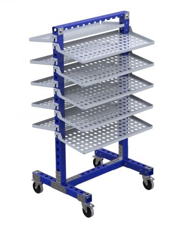 Flow Shelf Cart - 910 x 770 mm