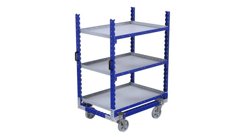 Q-100-2310 Flat Shelf Cart - 840 x 1260 mm