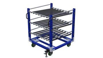 Q-100-2337 Flow Rack Cart - 1260 x 1260 mm