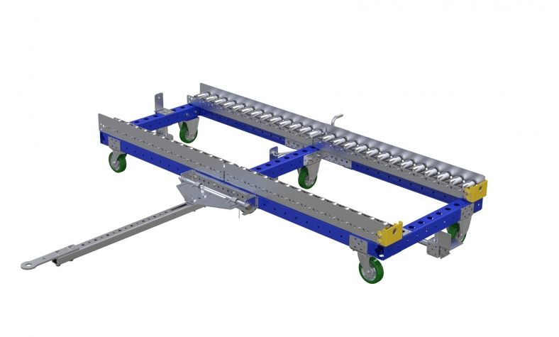 Pallet cart with rollers - 2030 x 770 mm