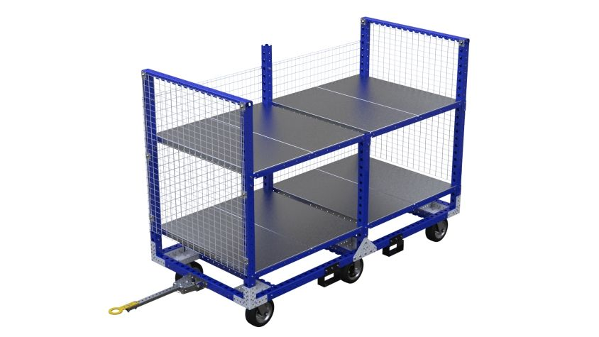 Q-100-2500 Shelf Tugger Cart - 1260 x 2730 mm